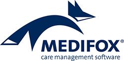 Wir sind Referenzkunde von Medifox. Medifox-Logo
